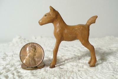 Small Vintage Folk Art Hand Carved Wood/Wooden Baby Horse/Colt/Filly/Foal