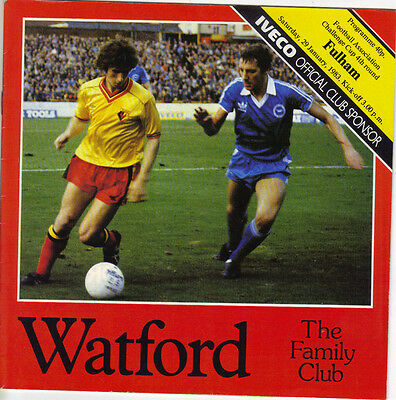 Watford v Fulham 1982/83 FA Cup 4th round