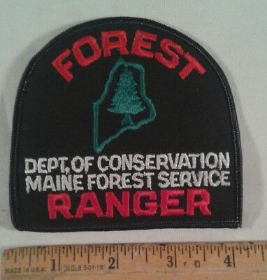 Maine Forest Ranger Patch Department of Conservation Forest Service State Park