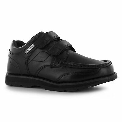 quite nice 5762c da37c Kangol Kids Harrow Strapped Boys Dual Hook and Loop Leather Shoes Slip On