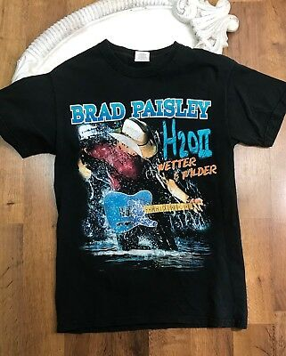 Brad Paisley H20II Wetter & Wilder Concert Tour T-Shirt Small Distressed 2011