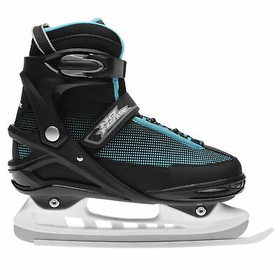 No Fear Mens Storm Ice Skates Classic Padded Ankle Collar Touch and Close Mesh