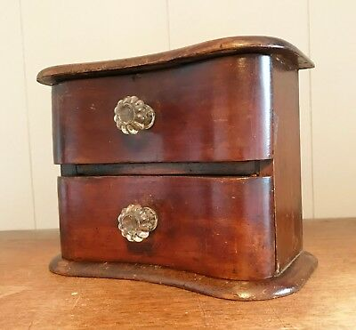 Antique Victorian Miniature Apothecary - Collectors Cabinet / Specimen Drawers