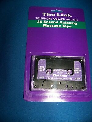 Answering Machine Outgoing Message 30 Second Endless Loop  Tape New On Card