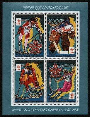 Zentralafrikanische Rep. 1988 - Mi-Nr. KB 1343-1346 A ** - MNH - Olympia