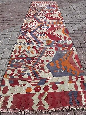 "Anatolian Turkish Long Antalya Kilim Runner 33""x131,1""   Area Rug Runner,Carpet"