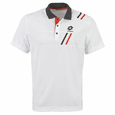 Lotto Mens Tennis Polo Short Sleeve Sports Training T Shirt Tee Top