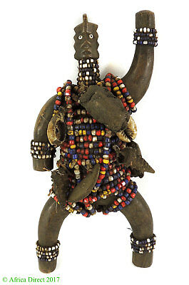 Namchi or Namji Fertility Doll Beaded Cameroon African Art SALE WAS $95