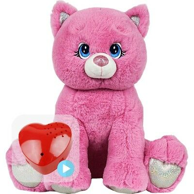 """Pink Kitty 15"""" (40cm) Pre-stuffed inc baby heartbeat / voice / sound recorder"""