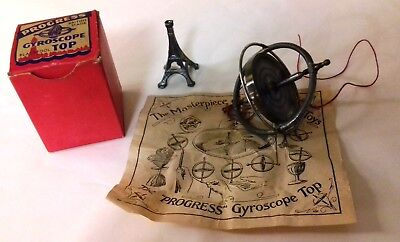 Vintage, Progress Gyroscope Blackpool Top - With Box, Tower & Intructions.