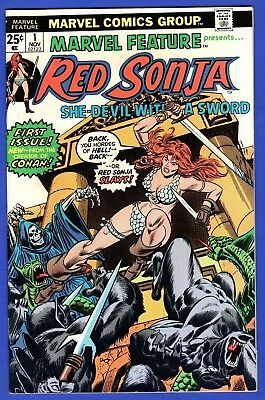 Marvel Feature Red Sonja #1 Vf+ High Grade Bronze Age Marvel Comics 1St Solo