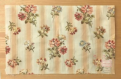 Late 19th Century Printed  French Cotton Floral Cotton Fabric (2101)