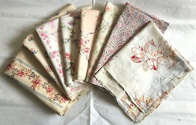 Beautiful Collection of (8) 19th & 20th C.French Printed Cotton Fabrics (2181)