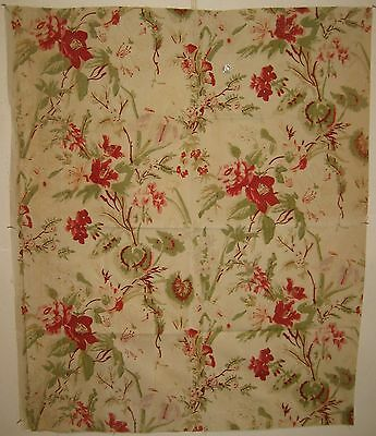 Vintage Beautiful 1930's French Floral Cotton Print Fabric (8578)