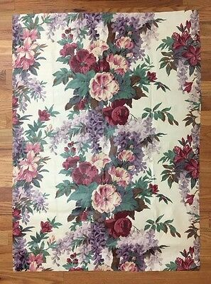 Vintage Beautiful 1930's French Chintz Floral Fabric ( 2020 )