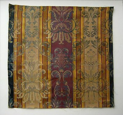 Antique Early 20th C. French Rayon and Silk Woven Amberline  (9482)
