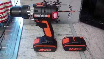 X2 worx 20v batterys,and hammer drill driver brushless
