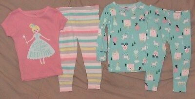Fairytales Before Bedtime Pink & Blue 4 Piece Sleep Set-Size 18 Months-Nwt