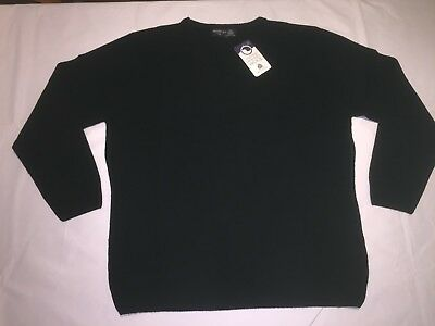 CLEARANCE Ladies Henbury H732 Lambswool V neck Sweater. Black x 14.