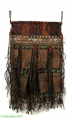 Tuareg Fringed Leather Panel Tent Hanging Mali African Art
