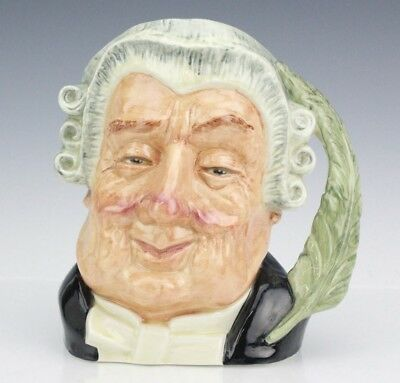 Retired Royal Doulton The Lawyer D6498 Large Porcelain Character Toby Mug Jug NR