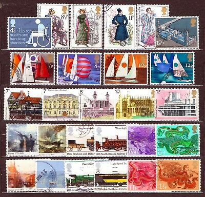 QEII 1975 Yearset  8 used Commemoratie sets (j433)