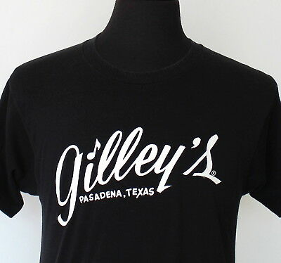 vintage 80s GILLEY'S soft thin BLACK T SHIRT medium HONKY TONK country ROCK