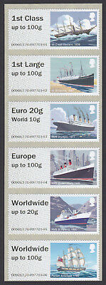 GB 2018 Post & Go Royal Mail Heritage Mail by Sea u/m stamp collectors strip new