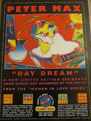 Peter Max, Daydream Serigraph, Full Page Vintage Print Ad