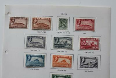 Gibraltar Useful Collection of QV to KGVI Values Fine MINT