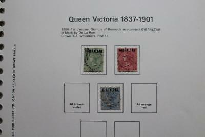 GIBRALTAR 1886 QV to KGVI Fine Used Stamp Collection - Useful Ranges