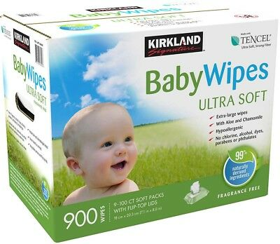 Kirkland Signature Baby Wipes 900-count Ultra Soft, Extra Large