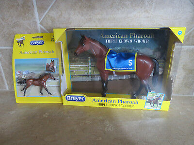 New in Box Breyer American Pharoh race horse lot NRFB 2 horses