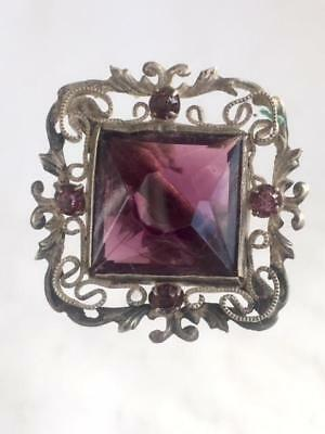Large Antique Amethyst Glass Jewelled Hat Pin Circa 1910