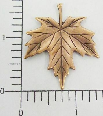 33325         Copper Oxidized Medium Maple Leaf Jewelry Finding