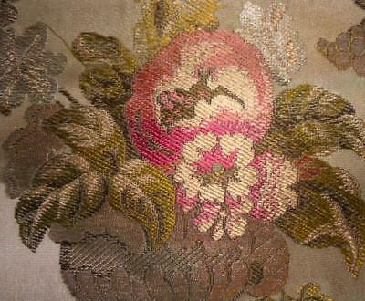 BEAUTIFUL FRAGMENT 18th/19th CENTURY FRENCH SILK & GOLD THREAD BROCADE, LYON