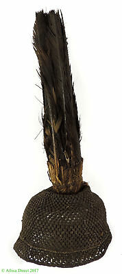 Pende Feather Headdress Cap Congo African Art