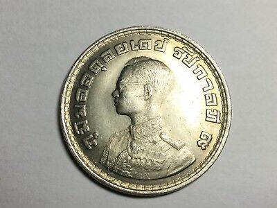 THAILAND BE2505 1962 1 Baht  coin about uncirculated