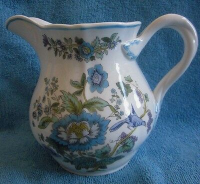 1980s SPODE porcelain MULBERRY 14.9cm  PITCHER - JUG flowers, birds