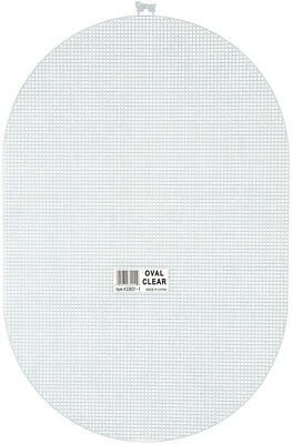 """Plastic Canvas Shape 7 Count 12""""X17.5""""-Oval Clear"""