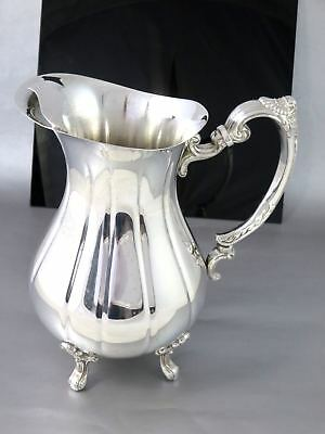 Vintage Large BURKE & WALLACE Silverplate MELON ICE LIP WATER PITCHER JUG 2L