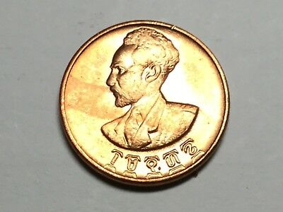ETHIOPIA EE1936 1944 1 Cent coin nice uncirculated