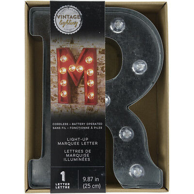 """Silver Metal Marquee Letter 9.875""""""""-R"""""""