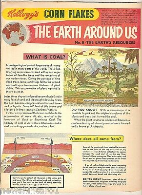 #t78.  1957-58  Kellogg's Corn Flakes The World Around Us  Back Panel #8