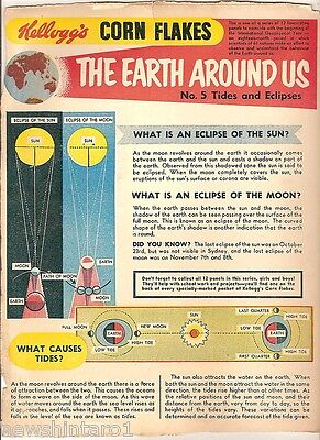 #t78.  1957 - 58  Kellogg's Corn Flakes The World Around Us  Back Panel #5
