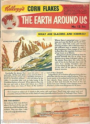 #t78.  1957 - 58  Kellogg's Corn Flakes The World Around Us  Back Panel #12