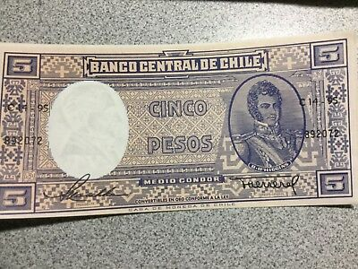 CHILE  5 Pesos banknote uncirculated