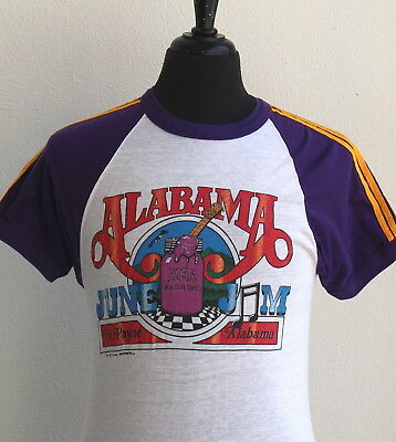 vintage 1983 ALABAMA soft thin CONCERT T SHIRT small COUNTRY ROCK tour 80s