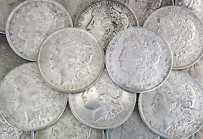 Lot of 20 1921 Morgan Dollars F - AU $1 Mixed Mint 90% Silver Coin Lot