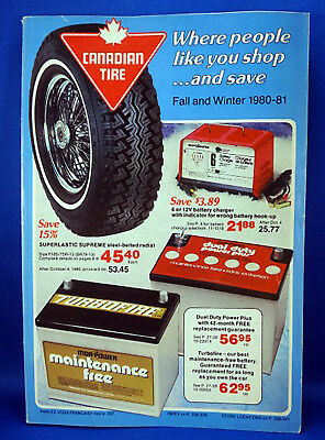 Vintage Canadian Tire Catalogue Fall Winter 1980/1 Annual Value Guide - Catalog